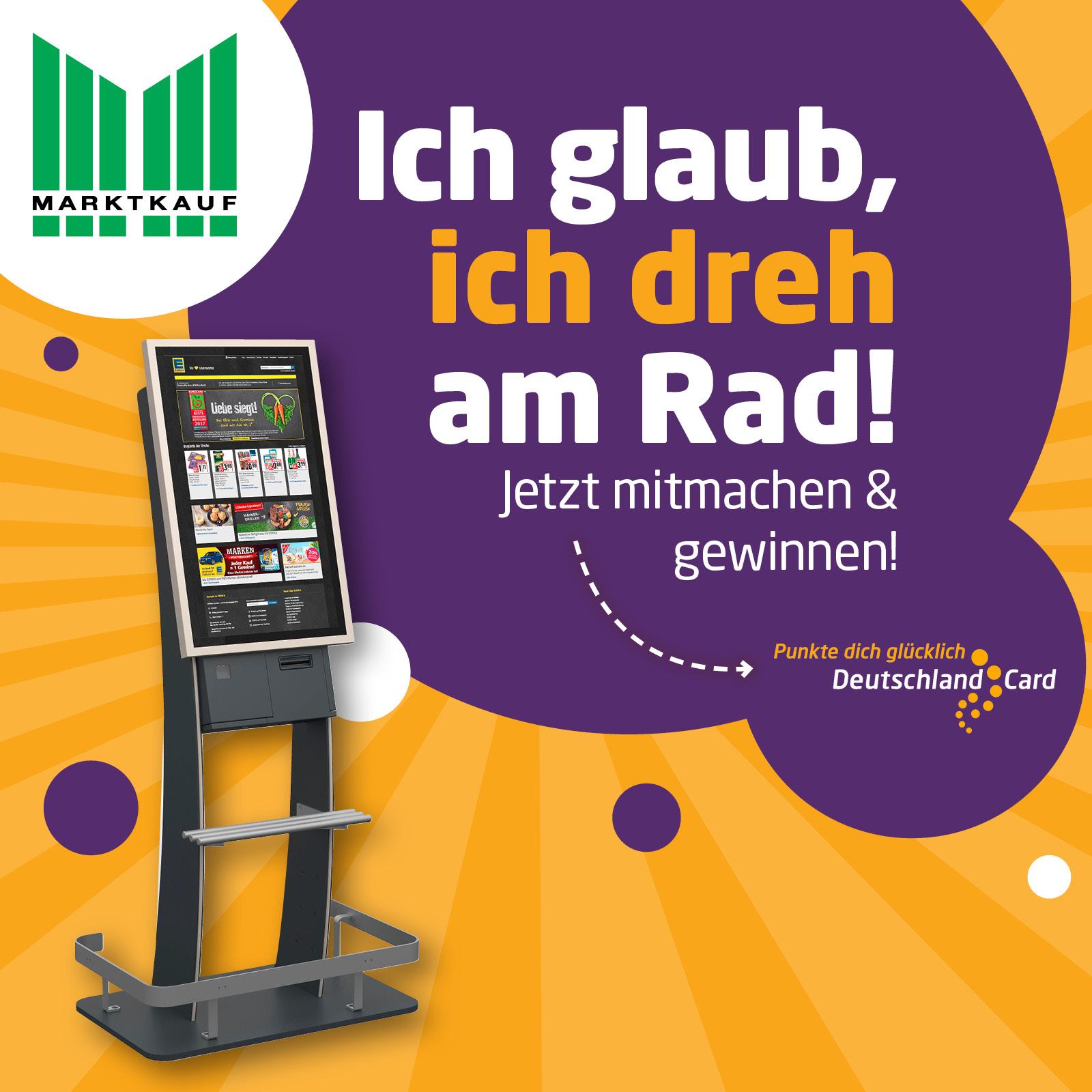 DeutschlandCard Glückrad in deinem Markt - punkte dich glücklich